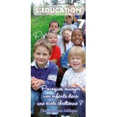 Dépliant ACSI N°7 : Pourquoi envoyer nos enfants dans une école chrétienne ? (lot de 100)