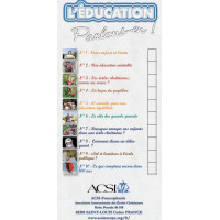 """ACSI leaflet: """"Education - Let's talk about it"""" series (12 lots of 10)"""
