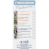 """Dépliant ACSI : Série """" L'Éducation - Parlons-en ! """" (10 lots de 10)"""