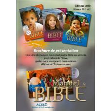 Bible Manuals - Presentation Brochure